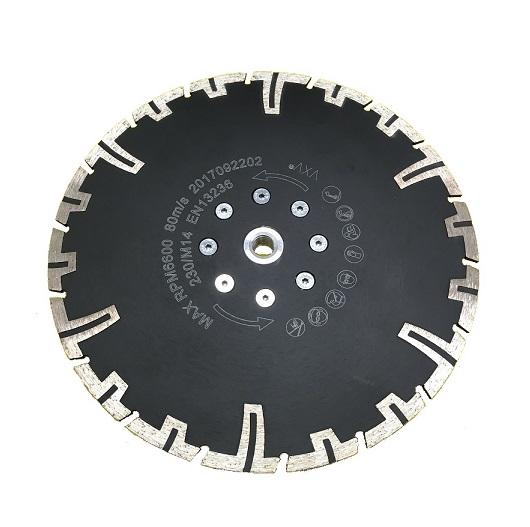 Diamanttrennscheiben-Set mit Flansch 125+ 230mm Beton Granit Klinker 2tlg.