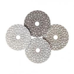 Diamant-Schleifpad-Set Granit trocken+nass 4tlg. Profi 100mm