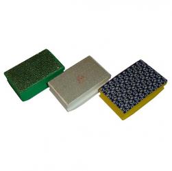Diamant-Handpad-Set Naturstein Feinsteinzeug 90x55 mm 10tlg. K50-3000