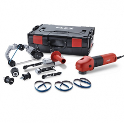 FLEX Rohrbandschleifer + Bandfeile BRE 8-4 INOX Set 800 Watt (453463)