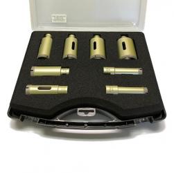 Bohrkrone für Winkelschleifer-Set Feinsteinzeug Premium 9tlg. 18-50mm