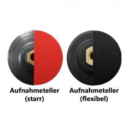 Aufnahmeteller für Schleifpads M14 Klett flexibel starr 100-125mm