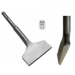 SDS-Plus Fliesenmeißel 165x75mm extra Breit kurze Bauform abgewinkelt